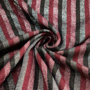 Punto Milano Jersey mit Glitter Streifen