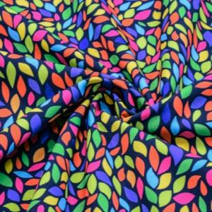 Softshell Stoff mit Bunte Blättern