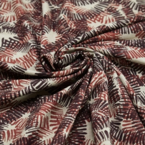 Viskose Jersey Stoff mit Muster
