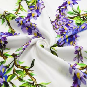 Exclusive Viskose Stoffe mit Blumen