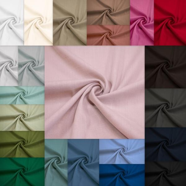 Viskose Stoff Stretch mit Leinenartige Struktur alle Farben