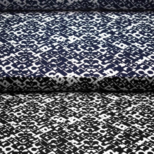 Viskose Stoff mit Geometrischen Mustern