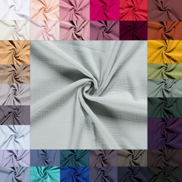 Musselin Stoff - Baumwolle alle Farben